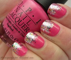 Pink with sparkles, can't go wrong.