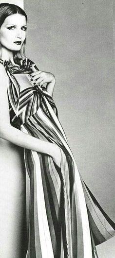"""Vogue Italia 1975 """"Righe"""" Model: Jeanette Christensen Photographer: Giampaolo Barbieri"""