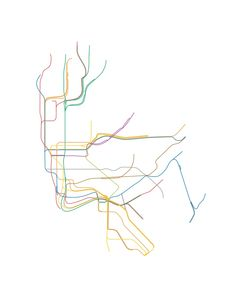 nyc subway map line drawing - Google Search