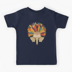 """Hello Echidna"" Kids T-Shirt by printedsparrow | Redbubble"