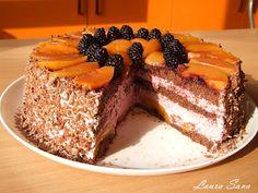 Tort de piersici cu mure | Retete culinare cu Laura Sava