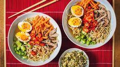Ramen - Proženy Japanese Food, Japanese Recipes, Cobb Salad, Ethnic Recipes, Soups, Inspiration, Biblical Inspiration, Japanese Dishes, Soup
