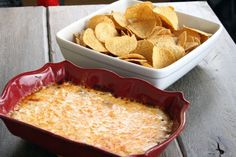 Easy Cheesy Hot Bean Dip. This is so, unbelievably perfect for parties. I can just see all of my friends sitting around the dip, eating... the entire night.