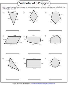 Perimeter Of Quadrilateral Standard Math
