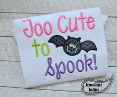 Batty Applique - 3 Sizes! | What's New | Machine Embroidery Designs | SWAKembroidery.com Beau Mitchell Boutique