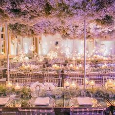 Baby Breath Clouds by @whitelilacinc  Wedding Reception Inspiration ✨ #SoSBrideS  Tag the Bride & Groom To Be