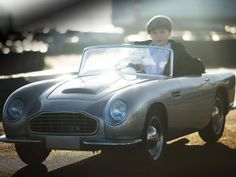 """London based Aston Martin Heritage Dealer www.nicholasmee.co.uk is now offering this fully functioning, petrol-engined car for children, called the """"DB Convertible Junior""""."""
