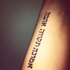 Arm tattoo ; Hebrews; 1 Kor. 13  Geloof, hoop, liefde