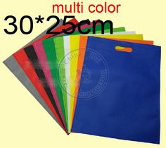 80grams Punching Non Woven Bags Shopping Handbag for Clothes Sales Promotion Gift Etc Multi Color Option Wholesale, $5.14   DHgate.com
