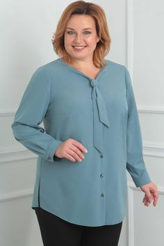 Blouse Orchid Lux - Blouse Orchid Lux You are in the right place about outfits formales Here we offer you the - 60 Fashion, Abaya Fashion, Plus Size Fashion, Fashion Dresses, Retro Fashion, Dress Shirts For Women, Blouses For Women, Photos Of Dresses, Evening Dresses Plus Size