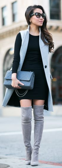 Grey Long Vest by Wendy's Lookbook