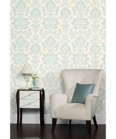 Laura Ashley - Hampstead - Duck Egg - Wallpaper
