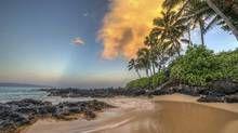 Maui beach at sunrise, Hawaii (iStockphoto)