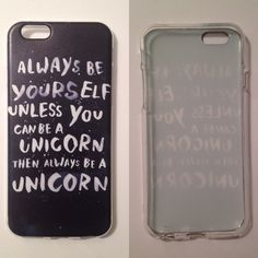 "PM PICK  iPhone 6/6s Case NEW 'Unicorn Quote'   Fits 4.7"" iPhone 6 & iPhone 6S  Soft silicone case  NO LIP  Covers back and sides  Comes with screen protector Accessories Phone Cases"