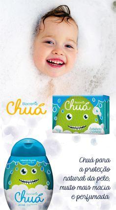 Bagunça boa na hora do banho, só se for com Biocrema Chuá! Linha exclusiva para crianças a partir de 3 anos. :) #banho #Chua #Biocrema
