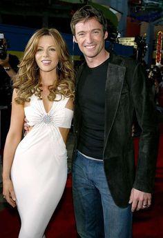 "Kate Beckinsale and Hugh Jackman at the California premiere of ""Van Helsing. Hugh Jackman, English Actresses, Actors & Actresses, Kate Beckinsale Pictures, Man Vs, Movie Photo, Celebs, Celebrities, Photos"