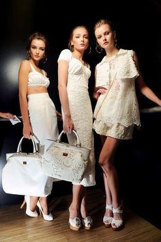 Andreea Diaconu, Snejana Onopka & Kamila Filipcikova backstage at Dolce & Gabbana