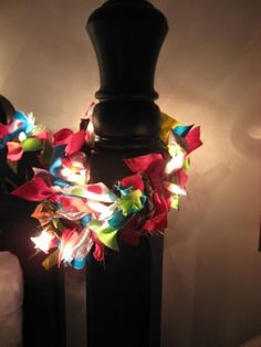 Fabric scraps + Christmas lights = awesome!