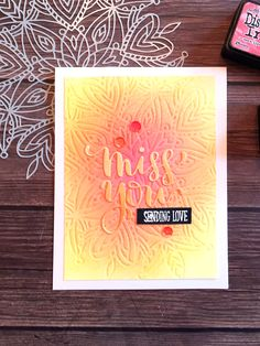 Dry Embossing with the Simon Says Stamp Heart Mandala stencil.