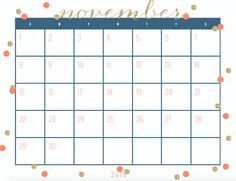 freebies october november december 2015 calendars