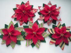 Felt Christmas Poinsettia