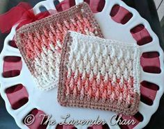 Textured Dishcloth - Free Crochet Pattern - The Lavender Chair