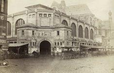 Marville : premier pavillon des Halles centrales , Paris 1866
