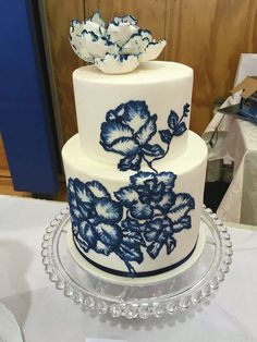 Brush Embroidery Cake Wedding Events Cakes Desserts Sweets Decorating
