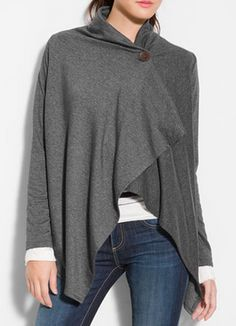 Cute asymmetrical fleece cardigan - 27 different colors - on sale for $39 http://rstyle.me/n/kt8hmnyg6