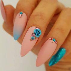 NagelDesign Elegant ( Alina Hoyo Nail Artist on… ) – NagelDesign Elegant ♥ Gem Nail Designs, Elegant Nail Designs, Elegant Nails, Stylish Nails, Acrylic Nail Designs, Trendy Nails, Cute Nails, Nails Design, Fabulous Nails