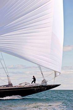 Sailing on a Large Sailboat