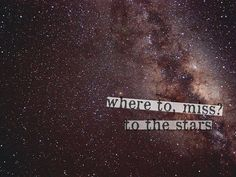 where to miss? to the stars {Titanic}