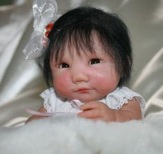 OOAK 8 mini hand sculpted Asian baby art doll by VeraSusiesDollies.