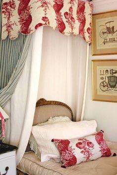 French decor linen & ticking.