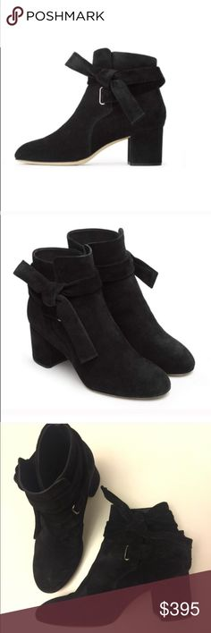 "Rag and Bone ""Dahlia"" black suede booties Stunning black suede booties featuring fashionable large tie detail.  Love these but I have too many black booties :P.  Great condition only worn a couple times. rag & bone Shoes Ankle Boots & Booties"