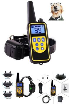 Shock Collar for Dogs,Dog Training Collar 800 Yard Dog Shock Collar with Remote Waterproof and Rechargeable for All Size Dogs Dog Training Tools, Dog Shock Collar, Training Collar, Remote, Yard, Dogs, Patio, Pet Dogs, Doggies