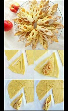 111 Perfect Dessert Dough Models Hand and Homemade – Pancake Recipes and Picture… - Pastry Sweet Recipes, Snack Recipes, Dessert Recipes, Cooking Recipes, Pancake Recipes, Pastry Recipes, Apple Recipes, Diy Dessert, Dessert Decoration