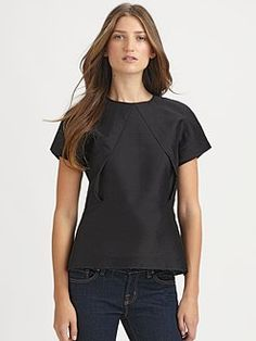 love the structure on this Acne top!