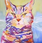 Watercolor Cat Painting