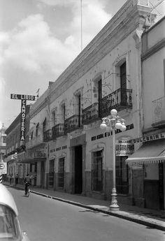 Casa de Los Serdan con los impactos de bala Puebla 1948.