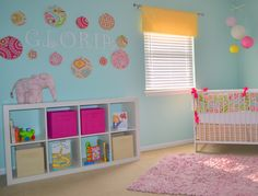 Lacefields in Love: Baby Girl's Nursery Kumari garden with blue walls (beautiful name) Girl Nursery, Girls Bedroom, Nursery Inspiration, Nursery Ideas, Bedroom Ideas, Girl Themes, Project Nursery, Little Girl Rooms, Blue Walls