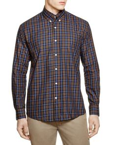 The Men's Store at Bloomingdale's Multi Plaid Regular Fit Button-Down Shirt