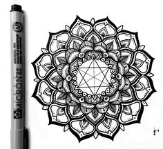 Finished Mandala. Enjoy! Micron Liner on... - J.Z.Newkumet