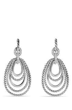 David Yurman 'Mobile' Drop Earrings with Diamonds available at #Nordstrom