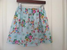 Shabby Chic Floral Twirl Skirt  6/6X  Ready to ship by IzettaJane, $14.00