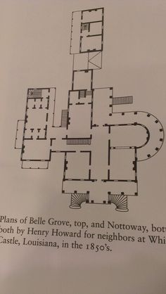 Main floor plan, Louisiana (Nottoway?)