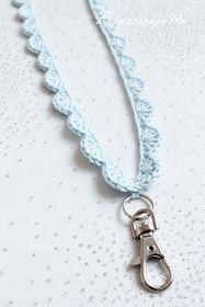 Virkattuja avainnauhoja by Prinsessajuttu Yarn Crafts, Sewing Crafts, Crochet Lanyard, Crochet Fashion, Crochet Accessories, Diy Crochet, Little Gifts, Handicraft, Jewelry Crafts