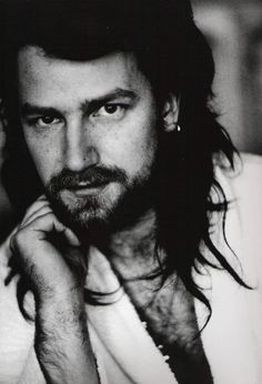 Bono ~ with LONG hair. Bono by Anton Corbijn. U2 Music, Music Icon, Adam Clayton, Rock & Pop, Rock And Roll, Great Bands, Cool Bands, U2 Show, Larry Mullen Jr.