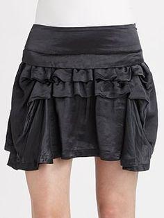 Theory- Wimin Ruffled Mini Skirt