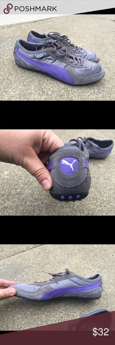 Women's Puma Fashion Sneakers Purple & Grey 9.5M Women's Puma Fashion Sneakers Purple & Grey 9.5M Puma Shoes Sneakers